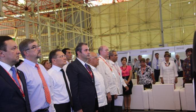 Георгий Каламанов открыл работу российской экспозиции  на выставке FIHAV-2015 в Гаване