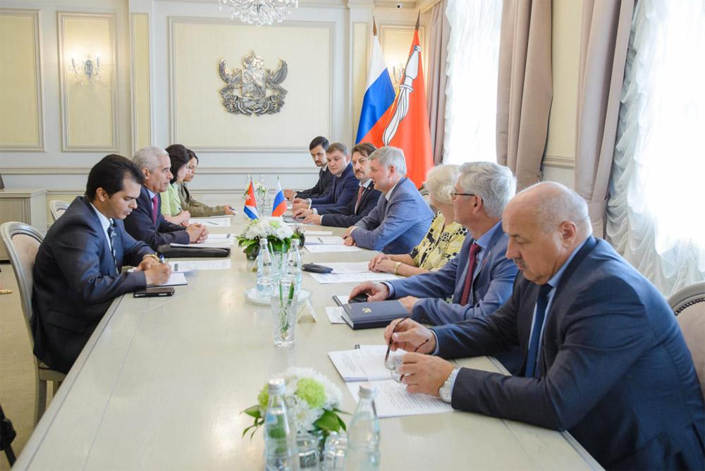 Воронежская область намерена укреплять партнёрские отношения с Кубой